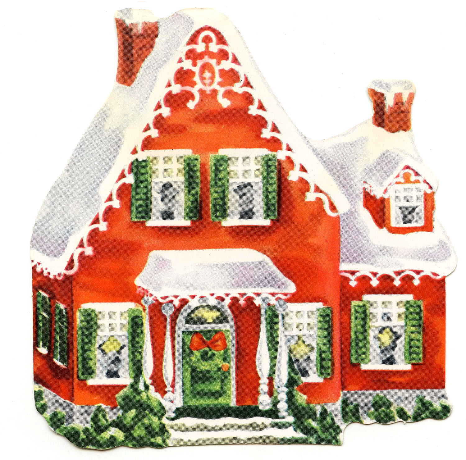Cottage clipart cottage house. Retro clip art darling