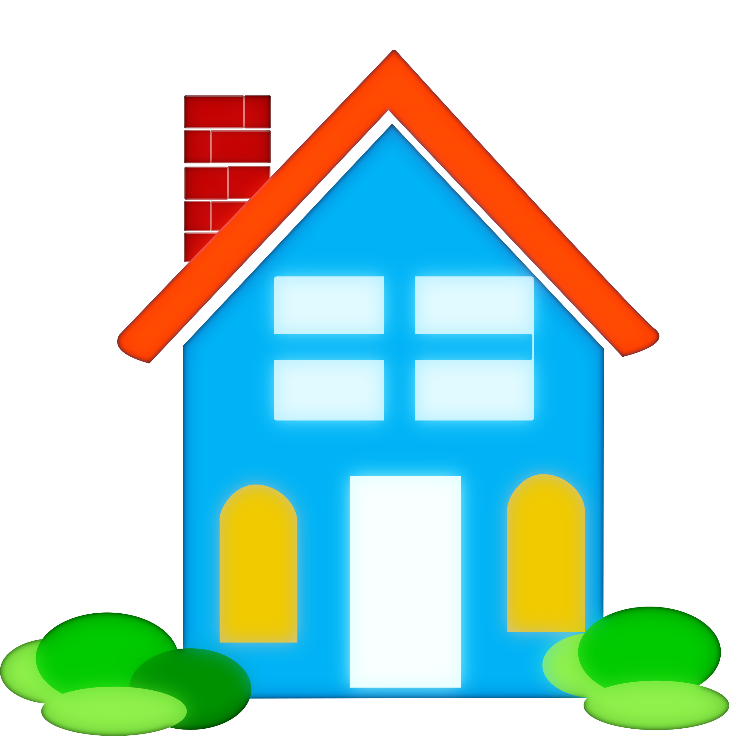 Homes vector transparent. Collection of clipart