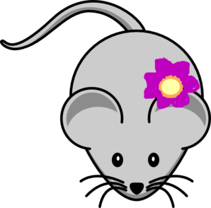 Rat clipart line art. With flower clip at