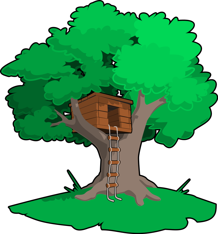 Oak clipart tree top. Free home cliparts download
