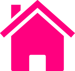Outer clipart cute house. Pink clip art at
