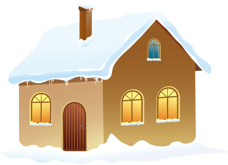 chimney clipart snowy