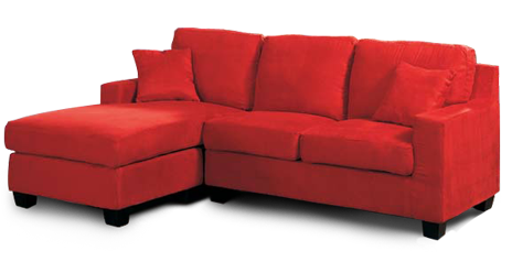 Transparent couch red. Furniture png file all