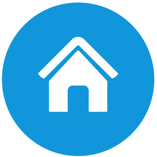 Home icon blue png. Page layout template with