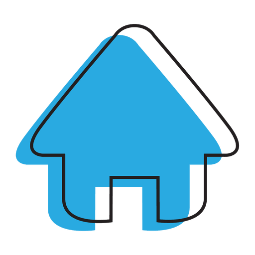 Home icon blue png. House transparent svg vector