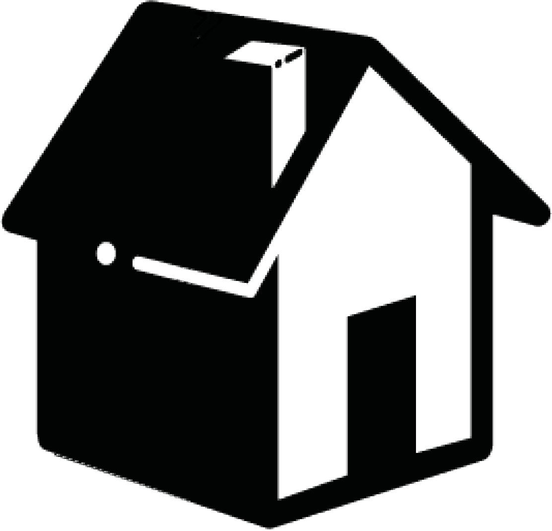 Home icon png black. Side view transparent stickpng