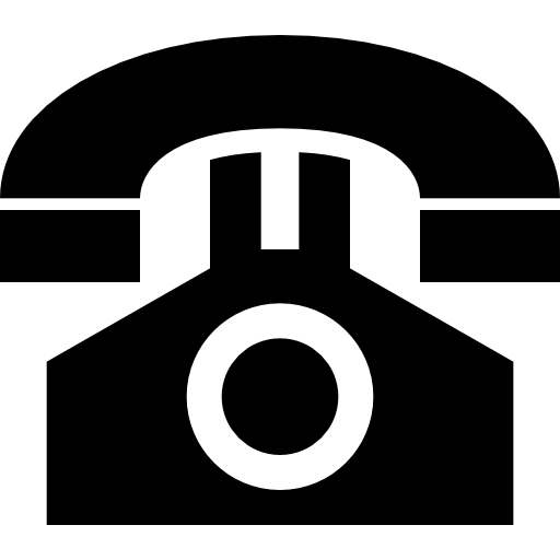 Home phone icon png. Old landline office telephone