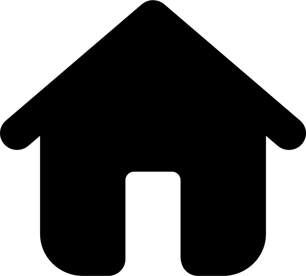 Home png black icon. Building symbol svg free