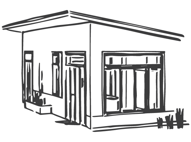 Gazebo drawing sketch. Custom homes builder construction
