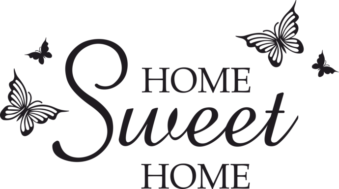 home sweet home sign png
