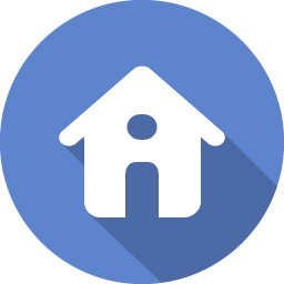 Home transparent blue. Icon flat iconset graphicloads