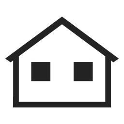 Home transparent simple. With hand shaking icon