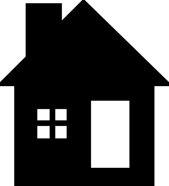 Home transparent small. Png house black and