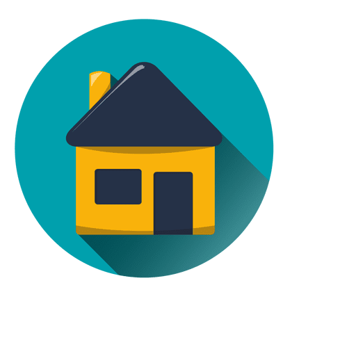 Casa vector png. House round icon with