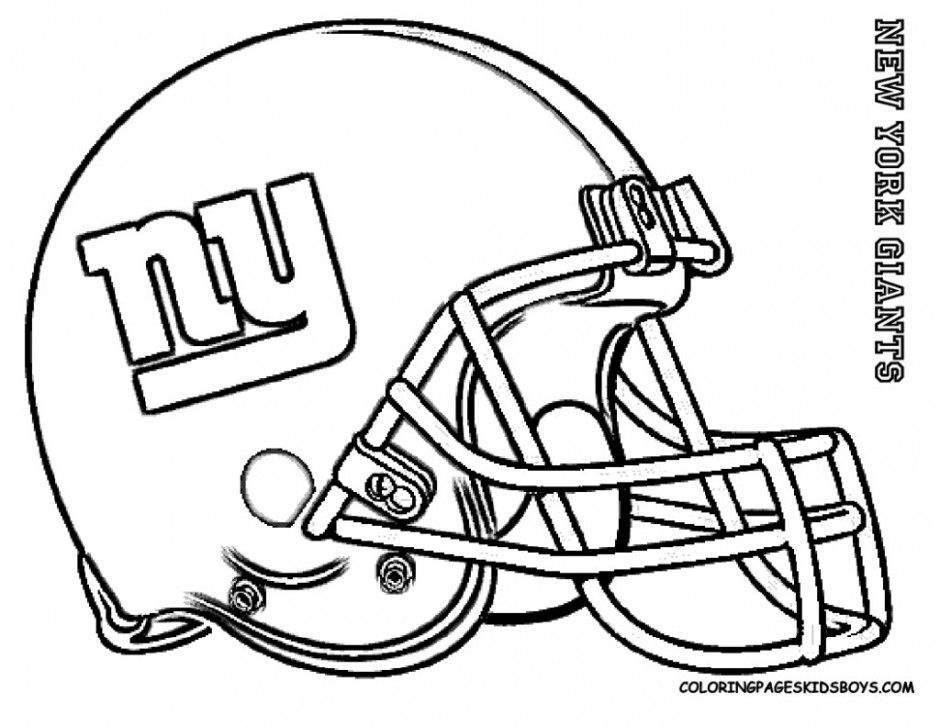 Homecoming clipart ny giants football. New york coloring pages