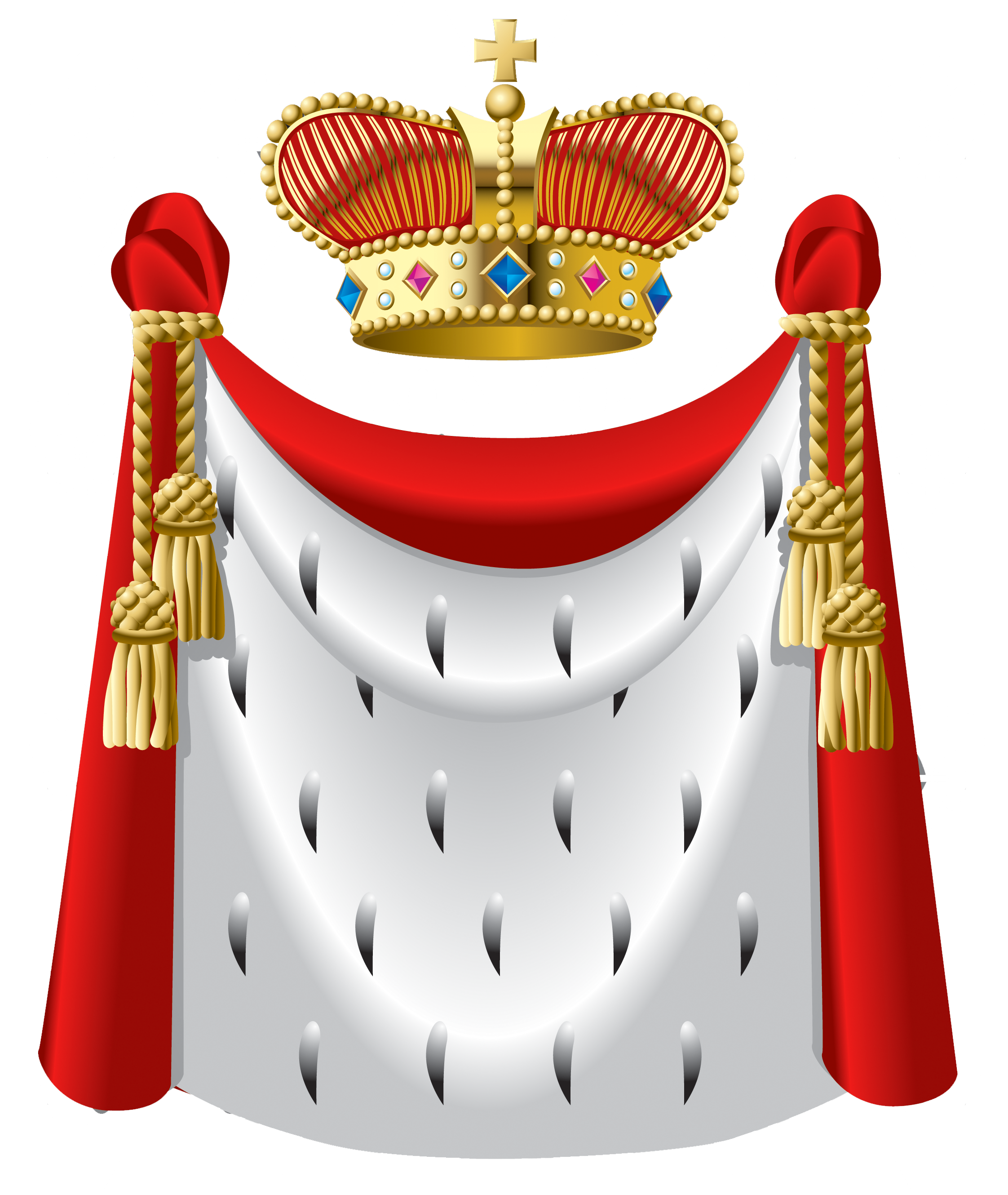 King Crown and Cape PNG Clipart