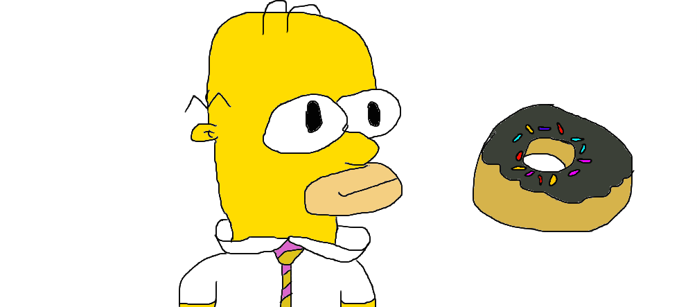 homer drawing expression