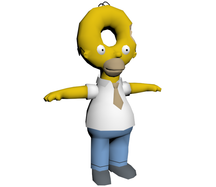 Homer donut png. Pc computer the simpsons