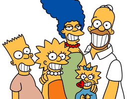 Homer drawing christmas. The simpson family classic