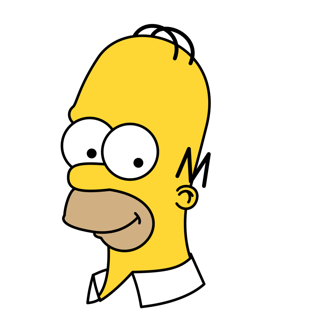 Homer drawing face. Simpsons png images free