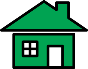 Green home icon at. Homes vector clip art svg transparent download