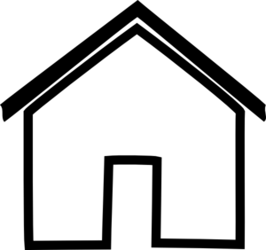 Homes vector outline. Of house group with