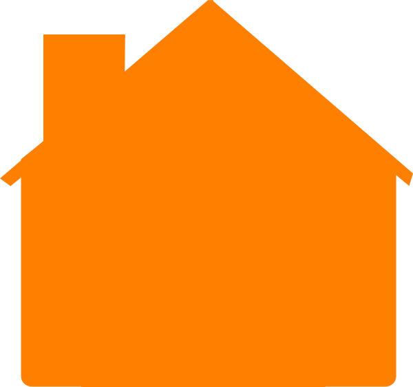 Homes vector simple house. Orange clip art at