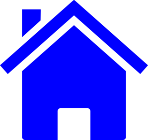 Homes vector simple house. Blue clip art at