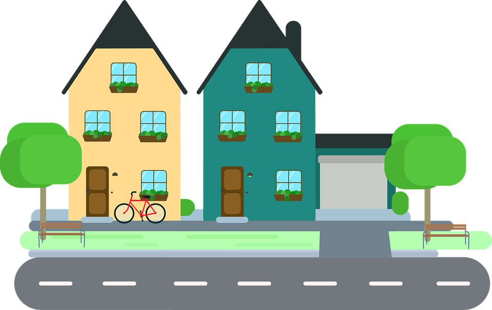 Homes vector vintage. Collection of free cottaged
