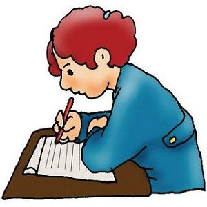 Homework clipart handwriting. Writing clip art black