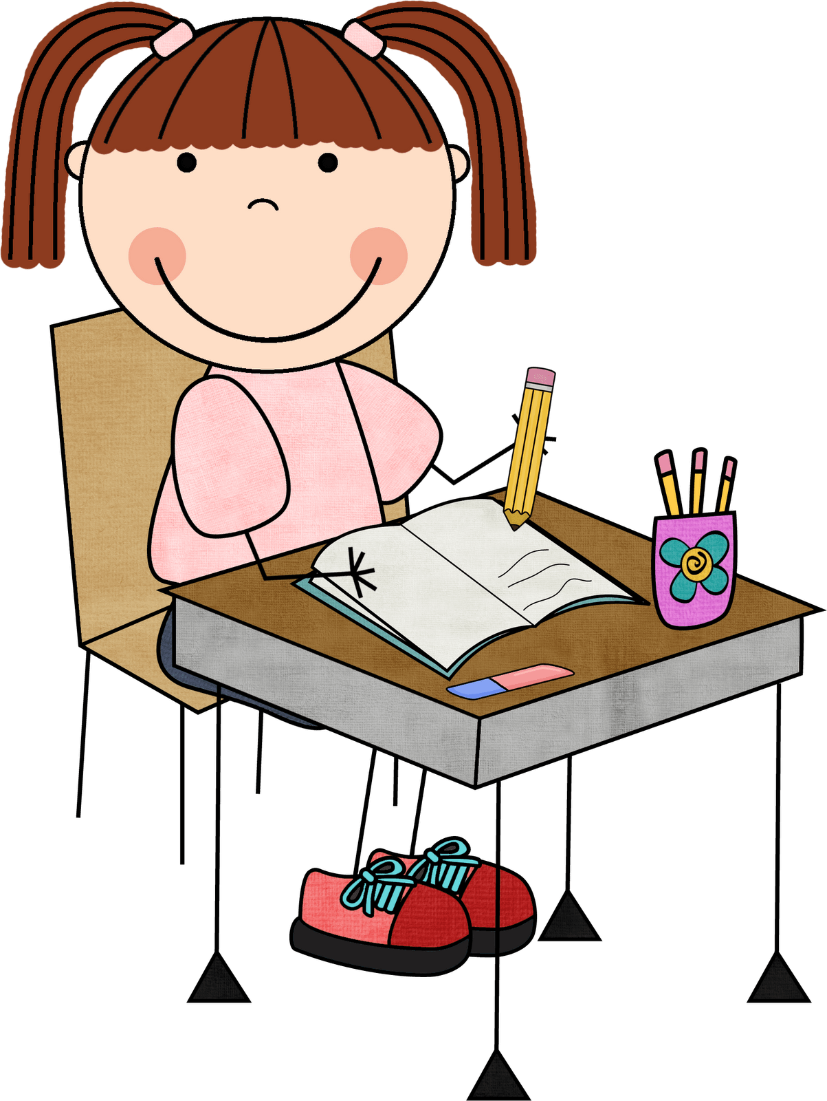 School clip writing. Free cliparts girls download
