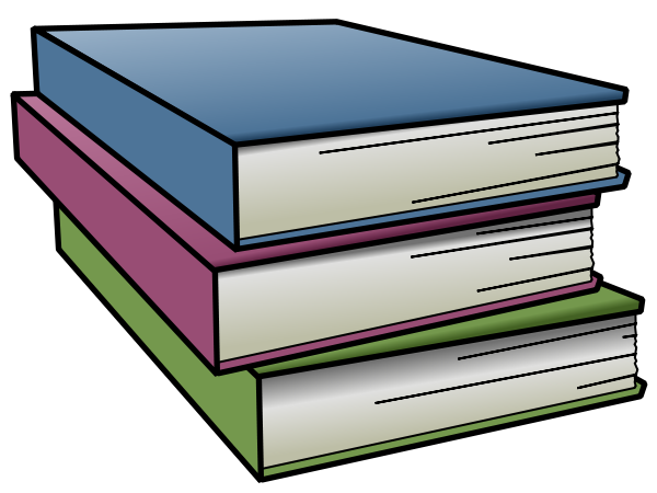 Research clipart encyclopedia. Tall stack of books