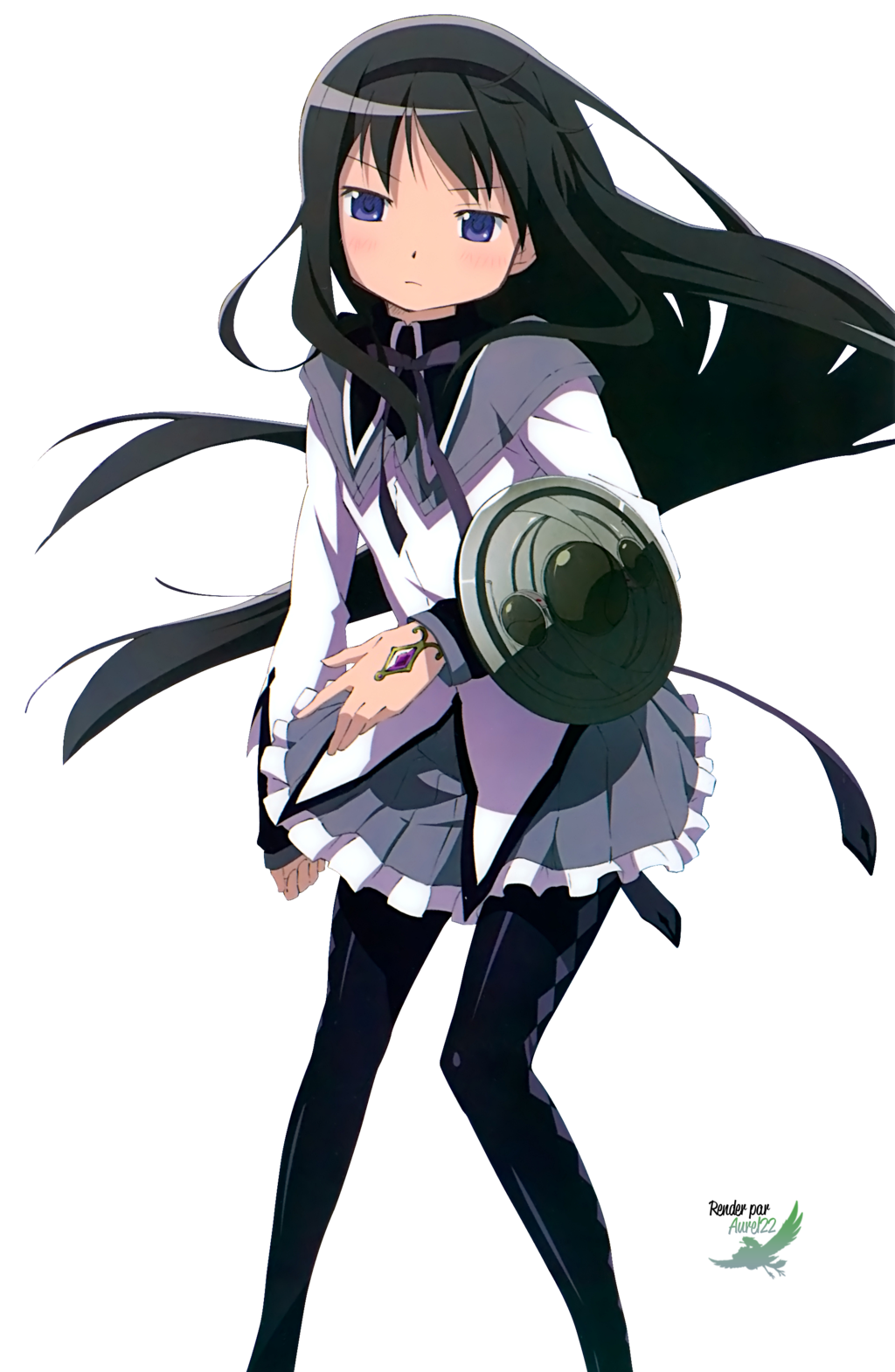 homura transparent kawaii