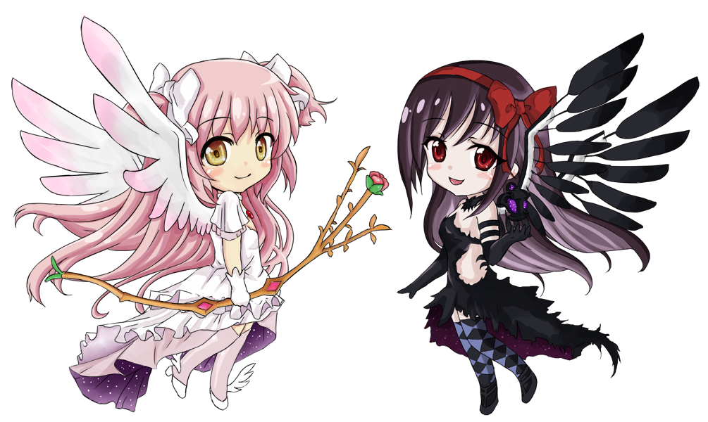 Homura transparent devil. Ultimate madoka and chibi