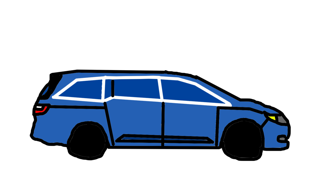 Honda drawing. Odyssey my car by