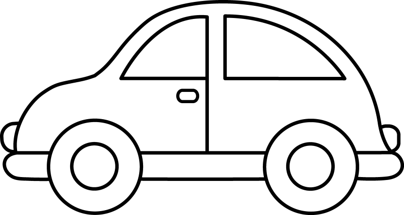 White automobile. Car coloring pages free