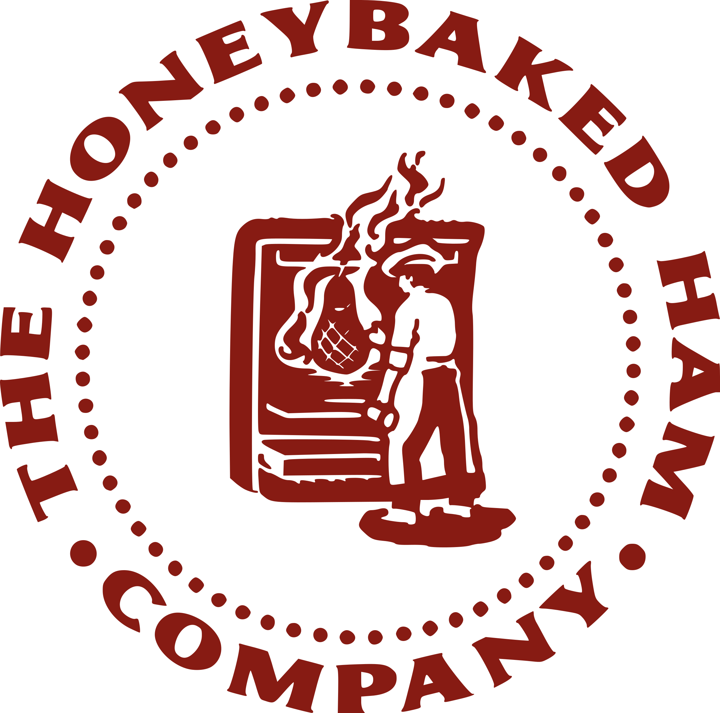 Ham vector. Honeybaked logo png transparent