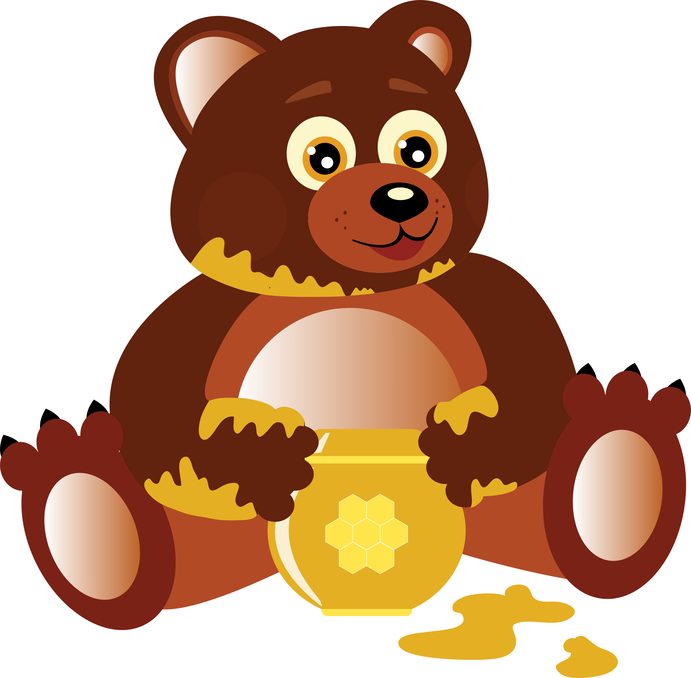 Honey bear png. Eating icons free and