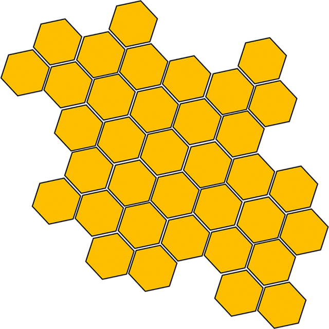 Honey clipart hexagon. Comb text box gift