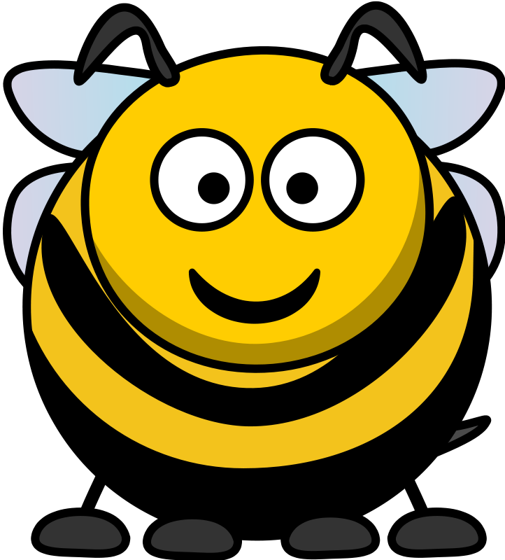 Braids vector animated. Free honey bee illustration