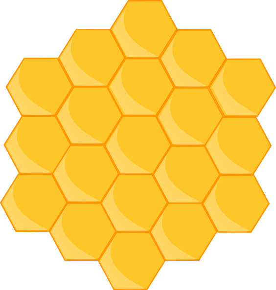 Honeycomb outline png. Clip art at clker