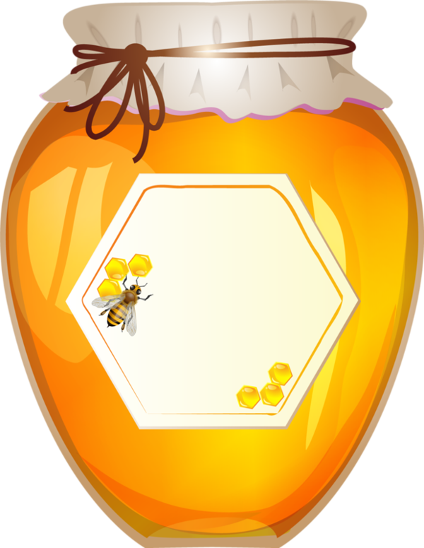 Honey jar cartoon png. Clip art kitchen clipart