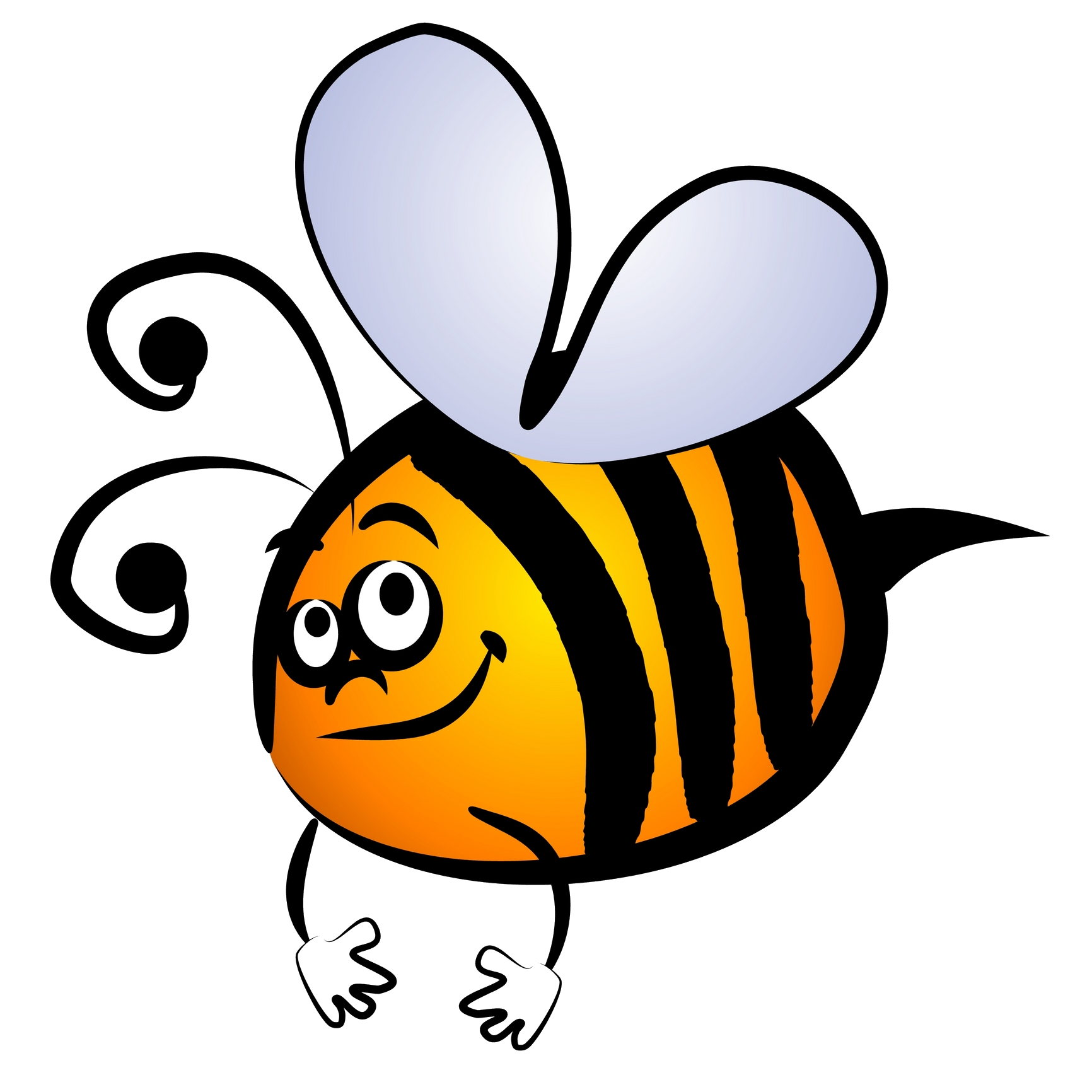 Bees transparent blank background. Free honey bee