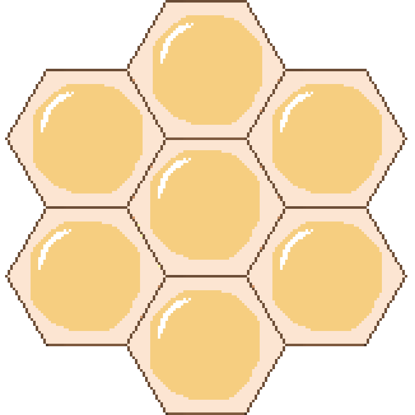 Honeycomb block png. Apiary and honey release