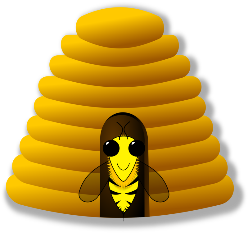 Honeycomb clipart beeswax. Beehive honey bee free