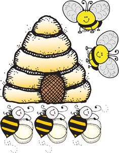 Honeycomb clipart busy bee. Bees clip art bumble