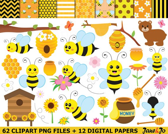 Honeycomb clipart busy bee. Bees honey clip