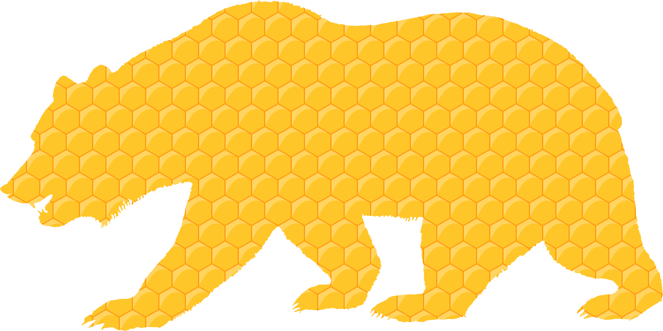 Honeycomb clipart honeycomb design. Bear icons png free