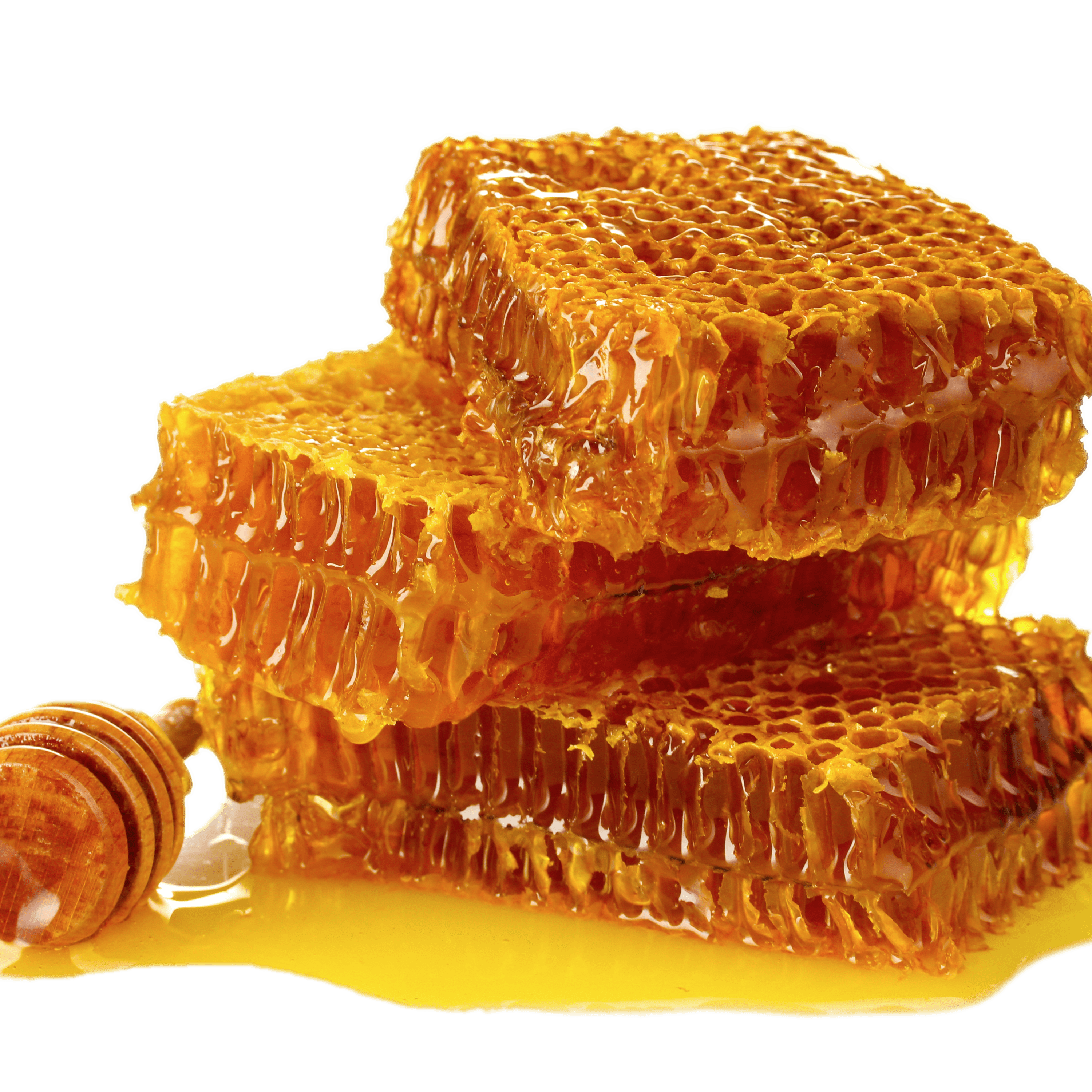Honeycomb stick dripping png. Transparent stickpng with dipper