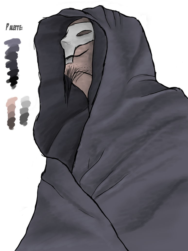 Hooded drawing hood. Death monk by afterfield